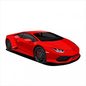 Иллюстрация красный спортивный автомобиль