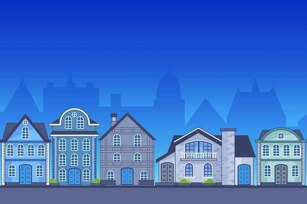 ヨーロッパの家の図
