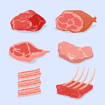 さまざまな肉のセット