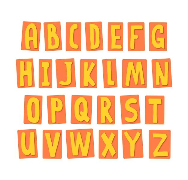 黄色のアルファベット