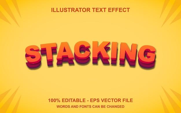 Редактирование текстового эффекта укладки