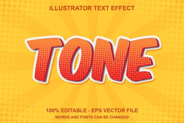 コミカルな編集可能なテキスト効果トーン