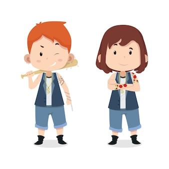 Симпатичные дети персонажи бандиты