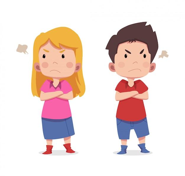 Симпатичные детские персонажи злые
