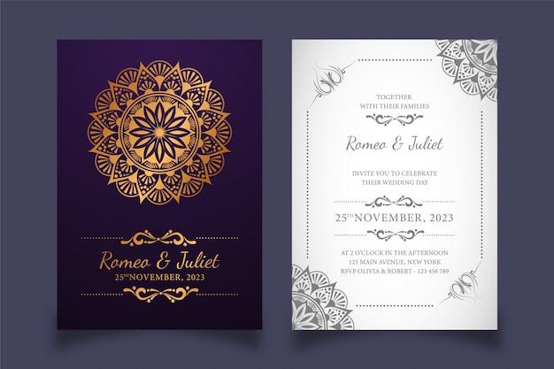 創造的な花の結婚式の招待カード