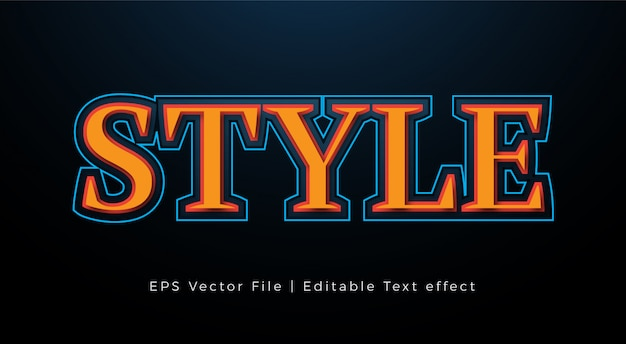Дизайн эффектов стиля текста