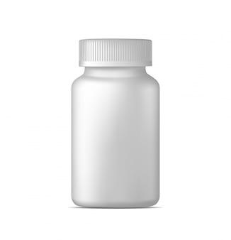 Реалистичная бутылка с таблетками