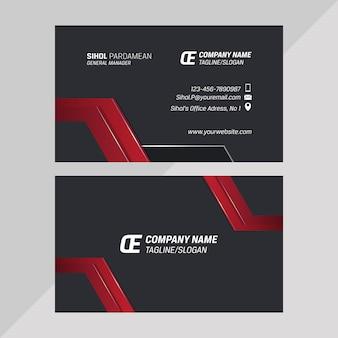 企業の静止したベクトル名刺水平テンプレートデザイン