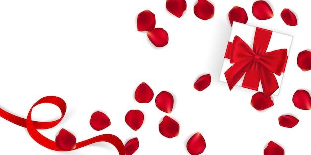 幸せなバレンタインデーのバナーテンプレート。