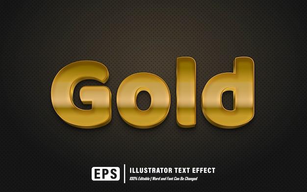 Эффект золотого текста - редактируемый