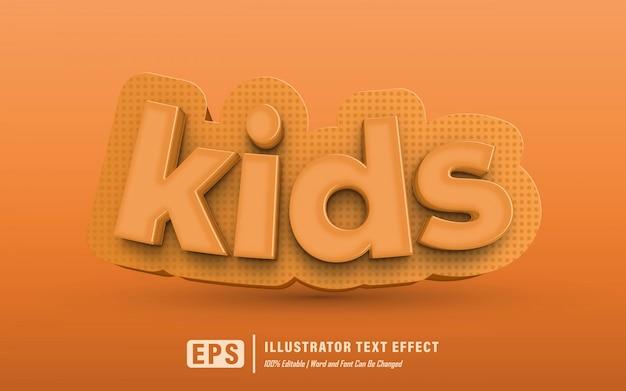Детский текстовый эффект - редактируемый