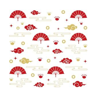 中国パターンファンクラウド壁紙