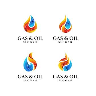 ガスと石油のロゴのテンプレート