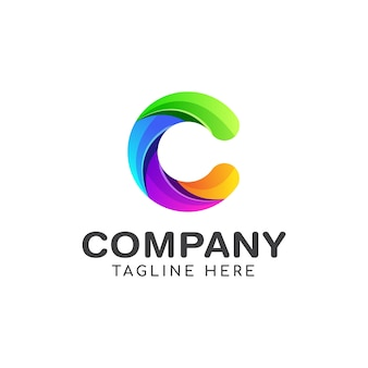 Шаблон логотипа буква с