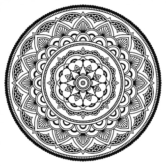 Круг цветочная мандала