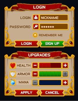 Средневековый игровой графический интерфейс