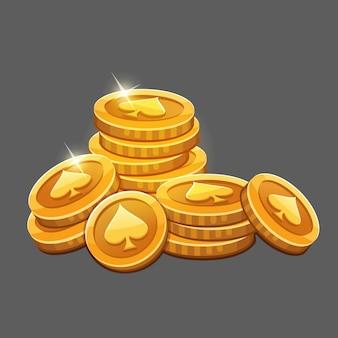 Большая связка золотых монет