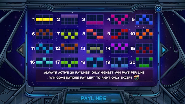 Информационный экран для игрового автомата