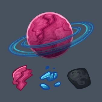 Набор космических объектов