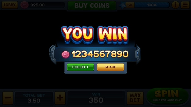 Вы выиграли в игровой автомат