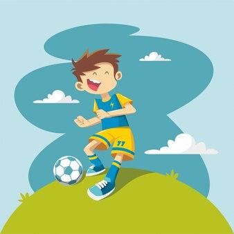 Герои мультфильмов детского футболиста