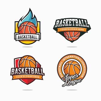 チームのバスケットボールのロゴのセット