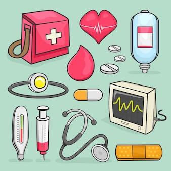 Набор медицинских значков