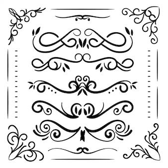 手描きのウェディング要素