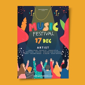 Плакат фестиваля рисованной музыки