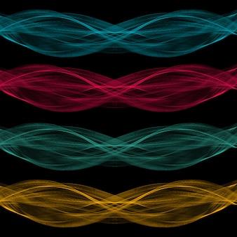 波のデザイン要素の抽象的なブレンド形状