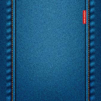 ジーンズのテクスチャの青い色。デニム