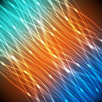 Неоновая абстракция разноцветных линий с ярким фоном