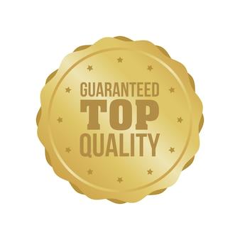 Знак гарантированного качества высшего качества, круглая этикетка
