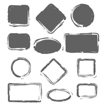 グランジビンテージ塗装図形セット。