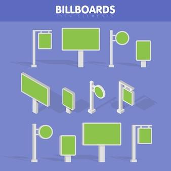 看板、広告看板、街灯看板。