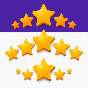 Пять звезд рейтинг золото.