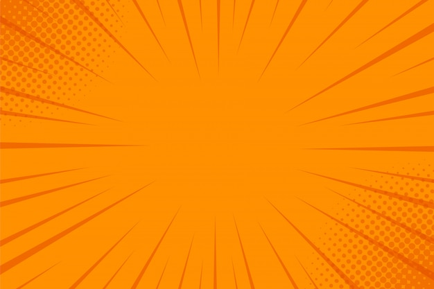 ハーフトーンとコミック光線の背景。
