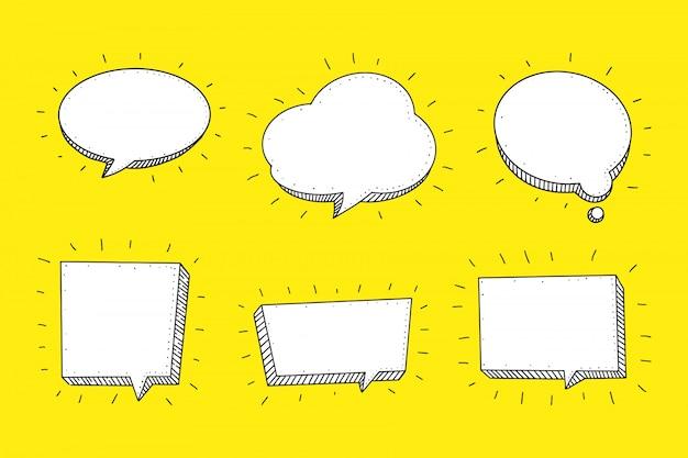 Речи пузырь в стиле рисованной эскиз.
