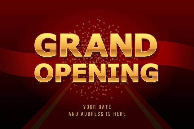 グランドオープンの招待状のコンセプト。