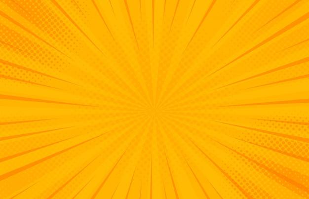 Урожай поп-арт желтый фон.