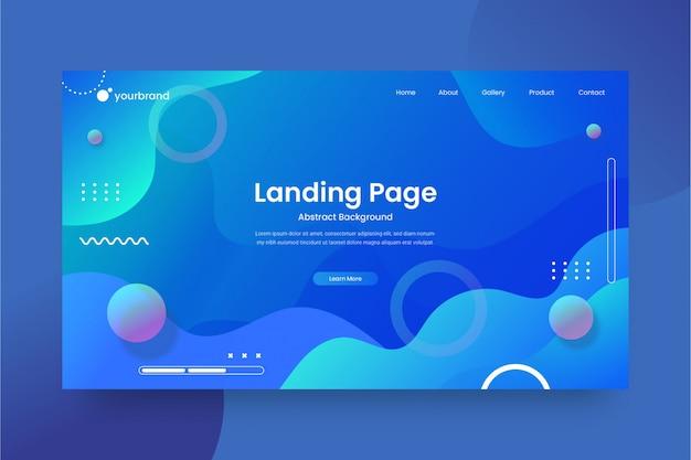 Абстрактный дизайн сайта или шаблон целевой страницы