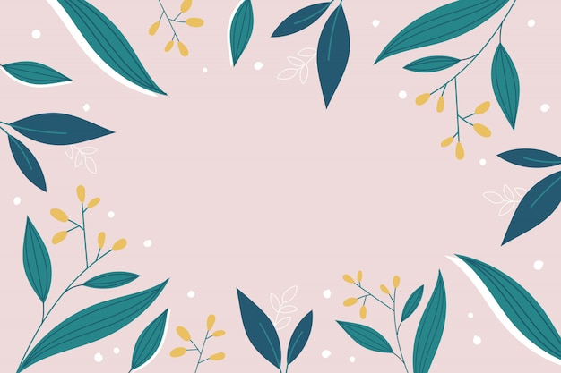 Современный ботанический дизайн фона в розовых тонах с пространством для текста.