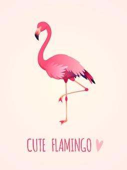 Милая иллюстрация фламингоа