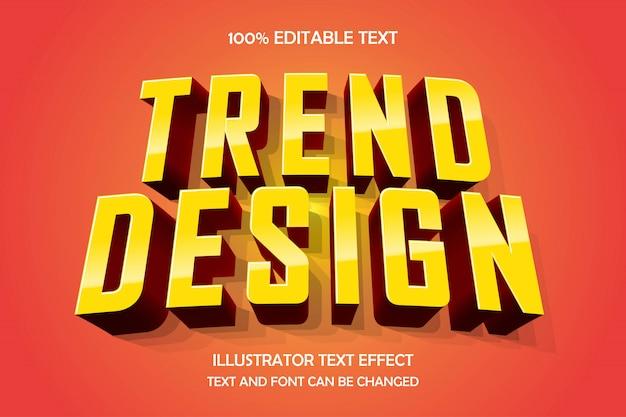 Тренд-дизайн, редактируемый текстовый эффект, современный стиль комиксов