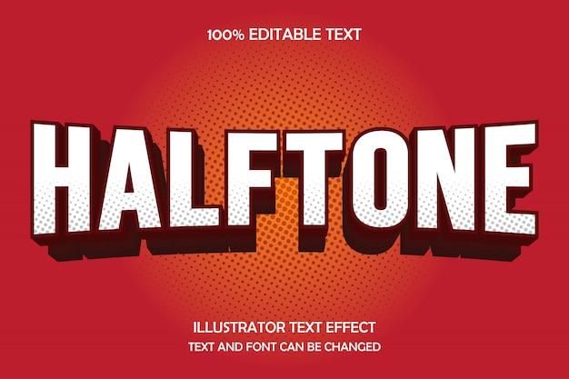 Полутона, редактируемый текстовый эффект, современный стиль тени