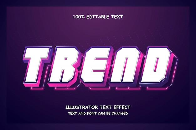 トレンド、編集可能なテキスト効果現代影未来派スタイル