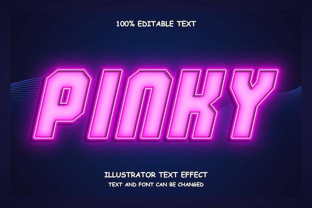 ピンキーで編集可能なテキスト効果のモダンなシャドウスタイル