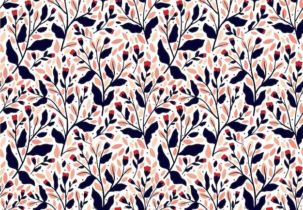 Цветочный узор. бесшовные векторные текстуры для модных принтов. рисованный стиль