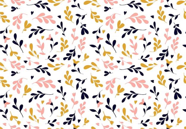 花柄。ファッションプリントや壁紙のための花とのシームレスなベクターテクスチャ。