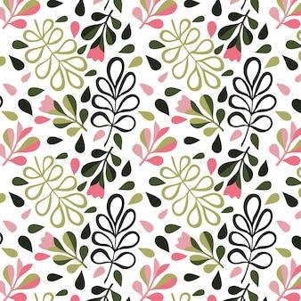 花柄。ファッションプリントや壁紙のための花とのシームレスなテクスチャ。手描きスタイル、明るい背景。